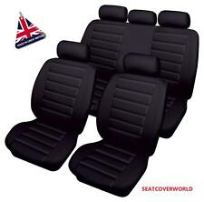 BMW BLACK LEATHER LOOK CAR SEAT COVERS FULL SET 1 2 3 4 Series