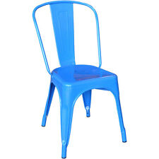 Replica Tolix Dining Chair Steel Xavier Pauchard Cafe Restaurant Blue - VIC