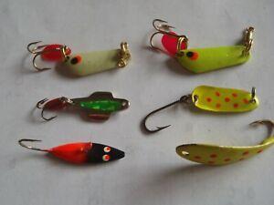 Fishing Jigs Lot of 6 Ice/Open Water Jigs-Crappie, Walleye, Bluegill, Smallmouth