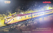 MARKLIN HO 37603  DB TEE VT 11.5 Train 24-Karat GOLD Plated COLLECTOR ITEM NEW