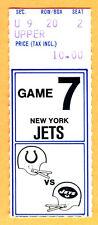 11/20/77 COLTS/JETS FOOTBALL TICKET STUB