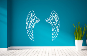 Wings Angelic Angel Spirit Vinyl wall sticker decal art. Any Size or Colour