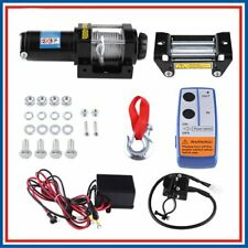 More details for 4000lbs 12v 1.6hp 1200w electric recovery winch kit for car atv truck trailer  c