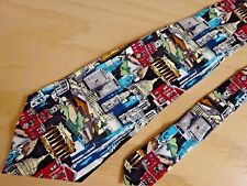 1996 Nicole Miller Tie ~ State Capital Government Building Offices Architect