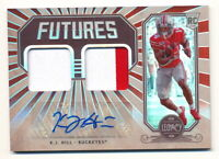 K.J. HILL RC 2020 PANINI LEGACY FUTURES DUAL PATCH AUTO #015/100 ROOKIE RPA