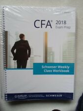 Schweser Cfa Cfa 2018 Exam Prep Level II Volume I+II Weekly Class Workbook