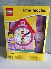 Brand New In Box Girls Pink Lego Time Teacher Clock & Watch Educational Set