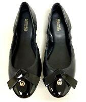 Women Michael Kors Millie Ballet Flat slip on Leather Black