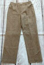 Ladies Orvis Wool Silk Blend Marl Knit Trousers Size UK 12 W31 L30