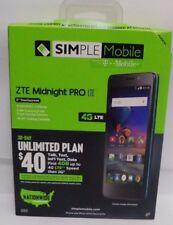 BRAND NEW! ZTE Midnight PRO LTE (SIMPLE MOBILE) 4G LTE Prepaid Smartphone