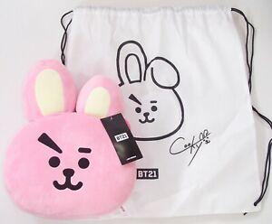 Genuine & Official BTS BT21 Plush Large Cushion Dust Cover Rucksack KPOP Cooky