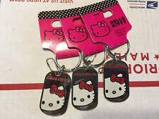 Hello Kitty Keychain Keyring Keyfob Lot of 3