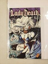Lady Death Ashcan #1 Lmt to 2500 Signed Hughes  and Jensen Chaos Comics 1995 NM