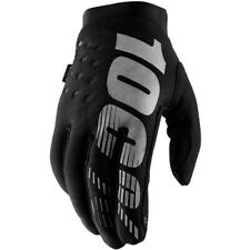 Children's Cycling Gloves 100 Brisker Cold Weather Youth Black/grey Large