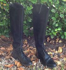 Nouvelle Devon Aire Riding Black Boots 650 Size 7 wide