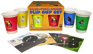 Flip The Bird Flip Cup Set Game PARTY NIGHT FUN DRINKING Games Express