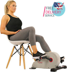 Under Desk Bike Pedal Exerciser, Desk Elliptical with 8 Levels of Frictionless