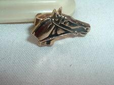 Vintage Kentucky Derby Golden Horse Tie Clasp In Gift Box