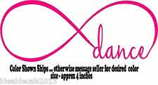 Dance Decal Sticker for your Car Window Laptop Bumper in Color Blush Pink