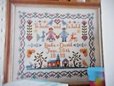 WEDDING SAMPLER TRADITIONAL ROMANTIC MOTIFS CROSS STITCH CHART