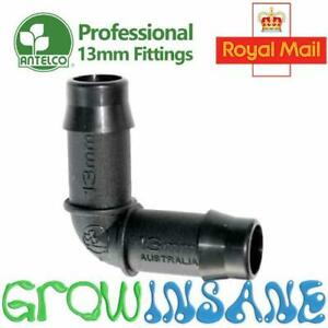 Antelco 13mm Elbow Barbed Irrigation Pipe Connector Hose Pipe LDPE Fits Hozelock