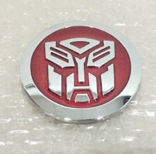 Car Transformers Sticker Metal Autobot Emblem Badge Decal 2pcs