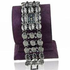 Superbe montre fantaisie pour femme ou adolescente bracelet métal décoré neuve