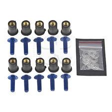 10 Blue Windscreen Fairing Bolts Wellnuts 5mm Set Yamaha YZF R6 R6S R1 FZR FJR