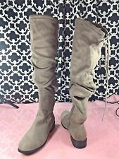 49e819e47fc Catherine Malandrino Morcha Suede Fabric Over The Knee Boots - Sz. 6.5 -  NWOB