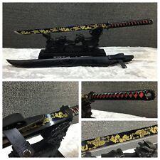 Leather Handle Handmade Japanese Samurai Sword Katana Manganese Steel Sharp #036