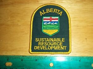 ALBERTA SUSTAINABLE RESOURCE PATCH conservation police fish wildlife parks dnr