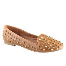 Ladies ALDO Cognac Patent Stud Loafer Flat Ballet Ballerina Comfort Shoe UK 4.5