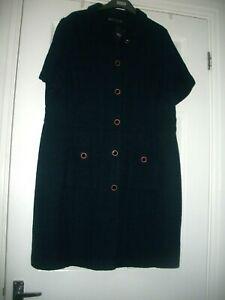 M&S SIZE 18 NAVY BLUE BOUCLE COAT DRESS LINED