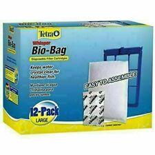 12 Pack Tetra Whisper Bio-Bag Large Disposable Filter Cartridges Easy Assemble