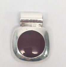 Red Jasper Slider Pendant Taxco Mexico Tb-167 Sterling Silver
