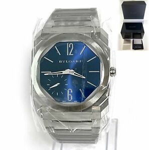 2021 New Bvlgari Octo Finissimo Blue Dial 40mm 103431 Bulgari Box Papers