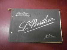 Catalogue Manufacture d'armes fines L. Berthon chasse 1926 Saint Etienne