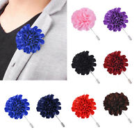 Fashion Flower Floral Lapel Pin Stick Tie Brooch Boutonniere Men Accessories NTP