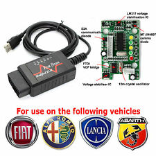 ELM 327 MODIFIED DIAGNOSTIC CABLE for use with MULTIECUSCAN FIAT ALFA LANCIA