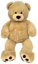XXL TEDDYBÄR 100cm gross beige Plüsch-Bär Teddy Stoffbär Plüsch-Tier Kuscheltier