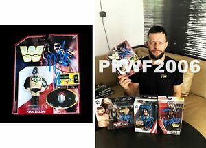 WWE FINN BALOR HAND SIGNED AUTOGRAPHED RETRO DEMON ACTION FIGURE WITH PROOF COA