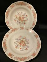 2 Pc Remington Fine China by Red Sea Soup/Salad Bowls Pink Rose Flowers