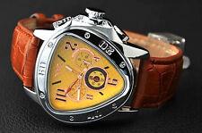 JARAGAR Herrenuhr TRIANGLE Leder Armband  Uhr  NEU braun automatik
