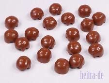 LEGO - 20 x uomini-Capelli Marrone/Reddish Brown Hair volte/3901 Merce Nuova