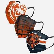 Chicago Bears Football Nfl 3 Pack Matchday Fan Mask Face Covering In Stock