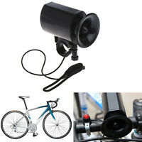 Black 6Sounds Waterproof Ultra-loud Electronic Bicycle Bell Bike Horn Siren high