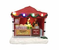 ST Nicholas Square Village 2020 KETTLE CORN STAND BNIB Lighted Building