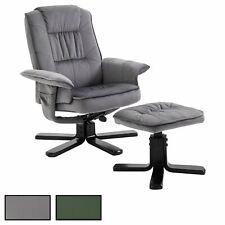Relaxsessel Samtstoff mit Hocker Fernsehsessel TV Sessel Relaxstuhl