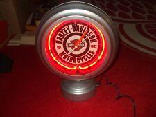 Harley Davidson clock orange neon table top VGC L@@K!