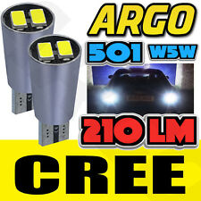 FRONT PARKING SIDELIGHTS 501 T10 194 W5W CANBUS 5W CREE WHITE SMD LED HID BULBS
